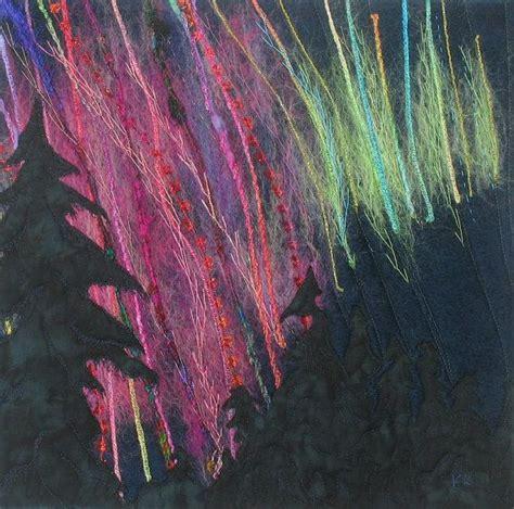 vibrant northern lights art quilt  kathykinsella  etsy
