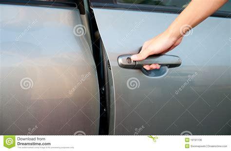 Open car door stock photo. Image of hand, driver, male