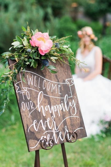 brilliant wedding  sign ideas  ceremony