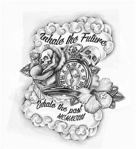 Skulls and Time Tattoo Design by GriffonGore on DeviantArt