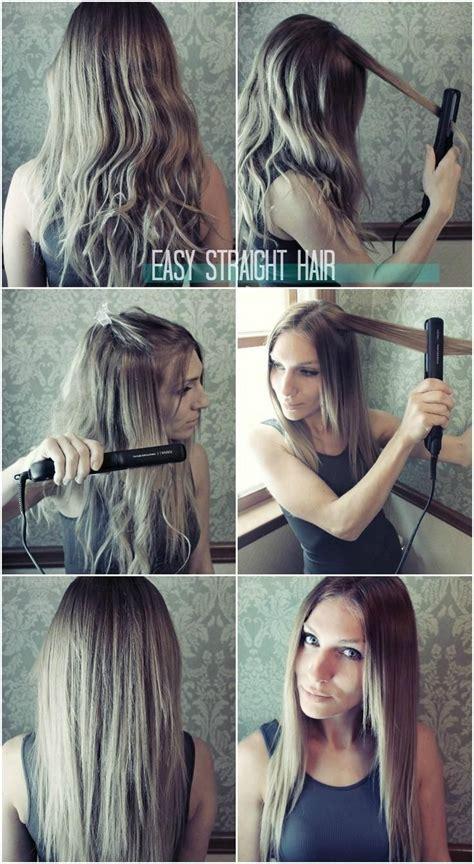 easy straight hairstyles  girls   straighten hair