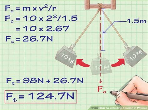 calculate tension  physics  steps  pictures