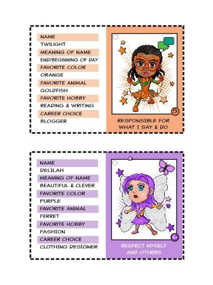superhero trading cards girl scout swaps brownie girl