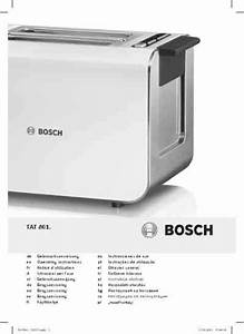 Bosch Tat 8613 Toaster Download Manual For Free Now