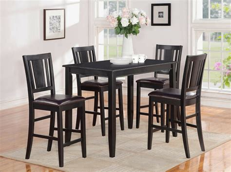 pc counter height pub set table   bar stool chairs