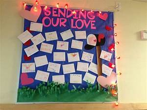 quotsending our lovequot bulletin board mailbox and lettering With pre cut letters for bulletin boards