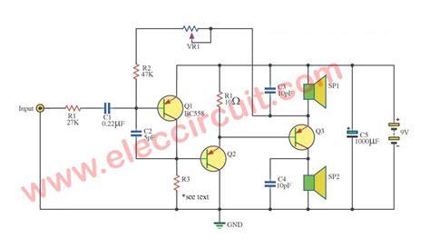 Mono Amplifier Two Speaker Eleccircuit