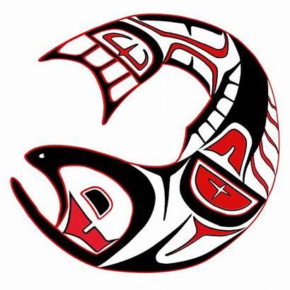 Salmon Fish Haida Native Last Nations American