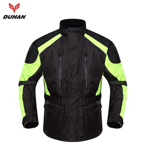 waterproof jacket for bike riding duhan motorcycle waterproof racing jacket with five