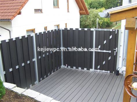 composite wood fencing products europe style outdoor garden wpc fencing waterproof anti uv wood plastic composite fence view
