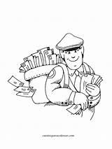 Colorear Cartero Dibujos Profesiones Mail Pintar Dibujo Carrier Variadas Coloring Oficios Sonriendo Template Truck Profesion Camarografo Cuentosparacolorear Gratis Relacionados sketch template