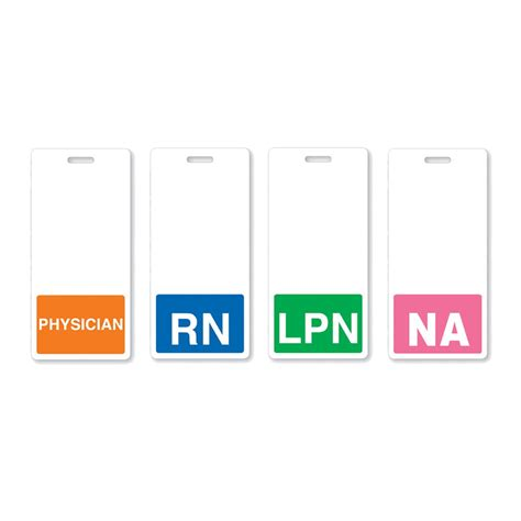 Rn Horizontal Badge Buddy With Colored Border And More Lpn Badges Gallery