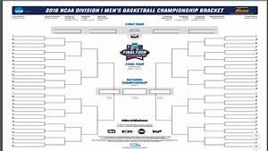 Printable NCAA Bracket 2016 Mens Basketball Bracket
