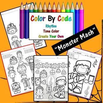 halloween color  code  monster mash rhythm
