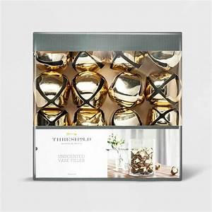 Threshold, Gold, Jingle, Bells, Vase, Bowl, Filler, 16, Pc, Metal, New, Threshold, Holiday, Christmas