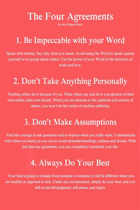 The Four Agreements Quotes | Ruiz Four Agreements Quotes