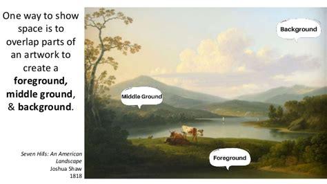 foreground background defining identifying foreground middle ground background