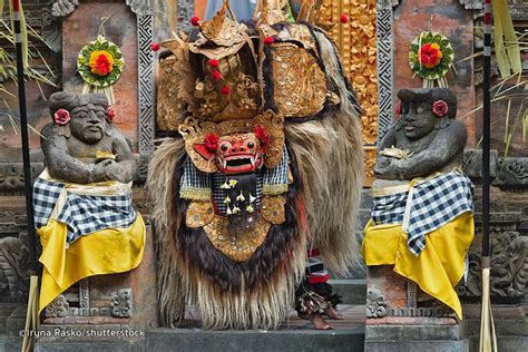 Barong Bali Donker barong and kris in bali balinese mythological