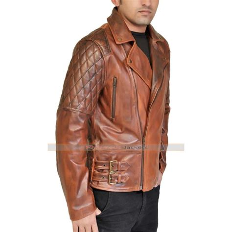brown leather motorcycle jacket rustic quilted brown leather motorcycle jacket