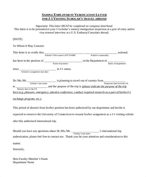sample employment verification letter  examples