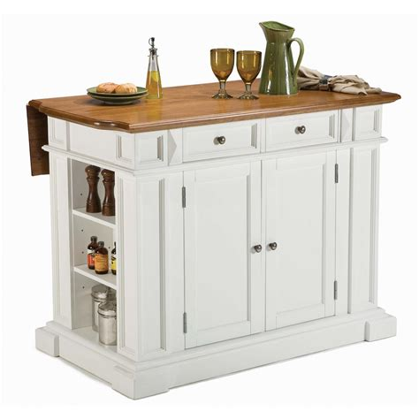 white kitchen island home styles kitchen island with breakfast bar 172165 kitchen dining at sportsman s guide