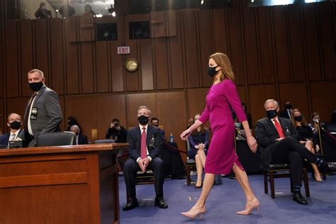barrett amy coney justice democrats confirmation senate hearing skeptical vows approach fair