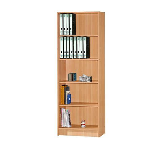 Beech Bookcase by Hodedah 5 Shelf 72 In H Beech Bookcase Hid5wd Beech