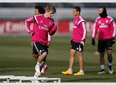 Martin Odegaard takes part in first Real Madrid training