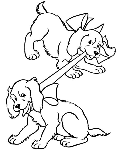 coloring page dog dogs  puppies coloring pagesfree