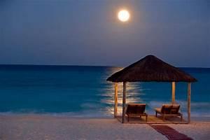 Beautiful Beach At Night - Hot Girls Wallpaper