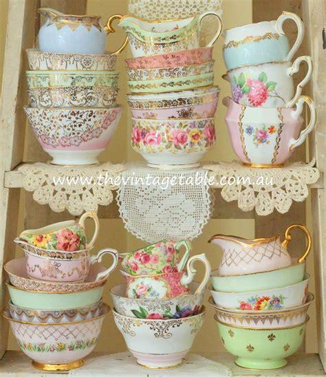 vintage cuisine vintage high tea china crockery hire the vintage table