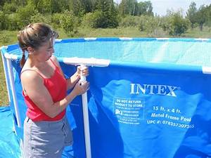 How To Set Up 15 Foot Intex Metal Frame Above Ground