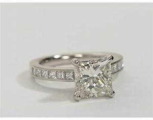 202 carat diamond princess cut channel set diamond for Platinum princess cut wedding rings