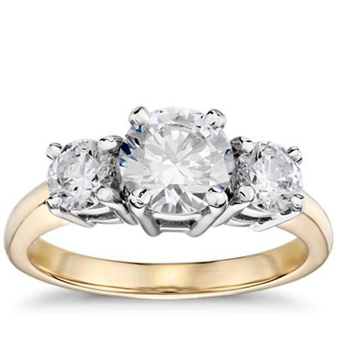 classic  stone diamond engagement ring   yellow