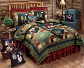 Kmart Christmas Trees by Timberline Full Queen Quilt Set Lodge Moose Bear Cabin
