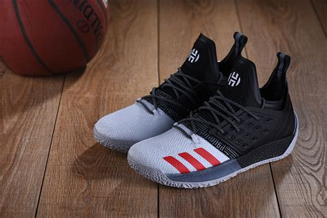 adidas harden vol  men basketball shoes white black red