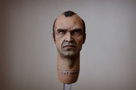 Trevor Philips From Gta 5 1/6 Scale Painted Head Sculpt