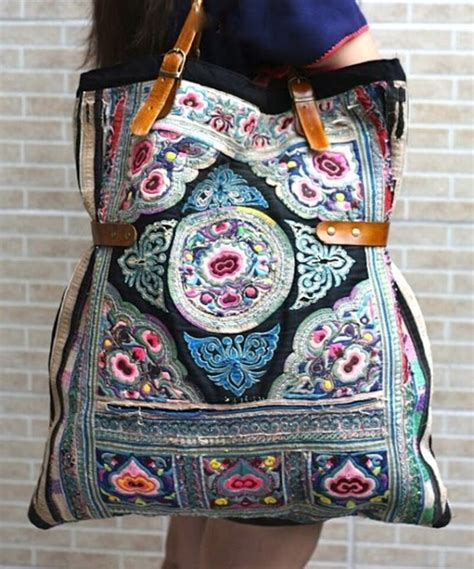 Bag Boho, Embroidered, Beautiful, Purple, Handbag, Boho