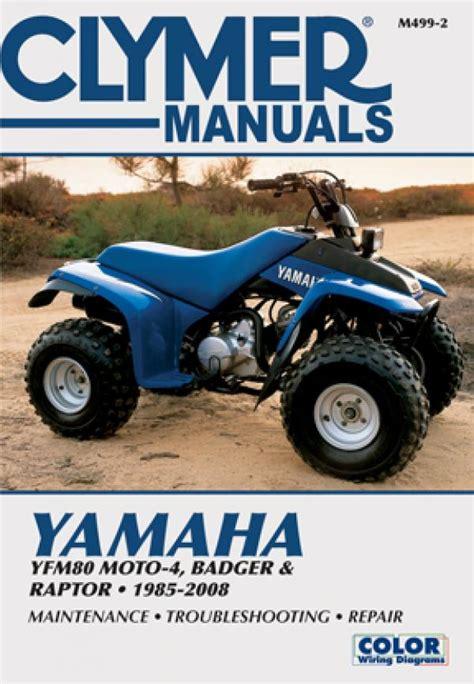 Yfm80 Wiring Diagram by Yamaha Yfm80 Moto 4 Badger And Raptor Atv 1985 2008