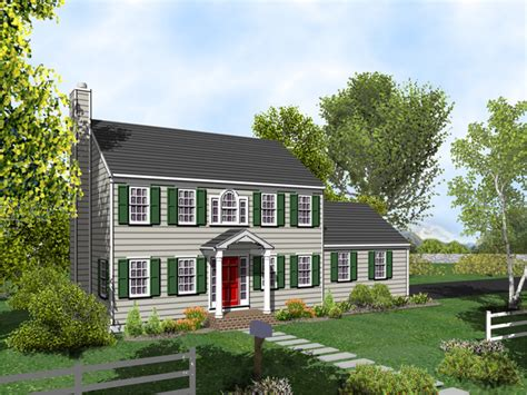 Colonial House Plans With Porches Georgian Colonial House