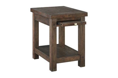 Windville Chair Side End Table In Dark Brown By Ashley