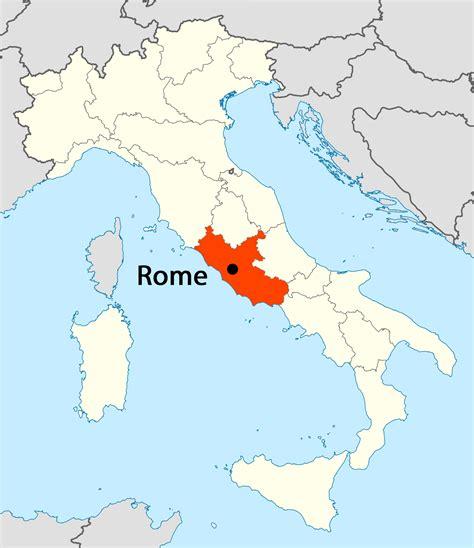 location  rome map mapsofnet