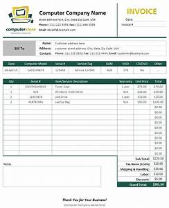 Download computer repair invoice template rabitahnet for Work invoice