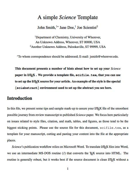 scientific paper template templates 187 academic journals