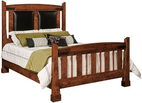 Abilene Leather Upholstered Bed Countryside Amish Furniture