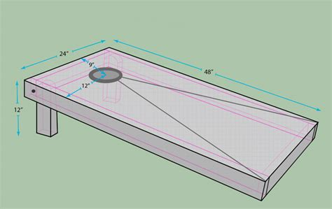 official cornhole board dimensions aca regulation size