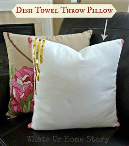 How To Make Pillow Covers With A Dish Towel DIY Pillows