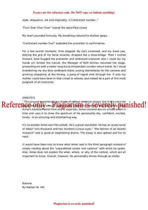 College Application Essay Harvard