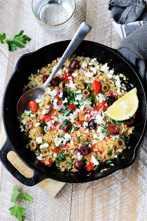 Cauliflower Fried Rice Mediterranean Style  Eating European