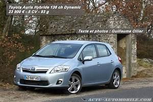 Essai Toyota Auris Hybride 2017 : essai toyota auris hybride 2010 136 ch dynamic actu automobile ~ Gottalentnigeria.com Avis de Voitures